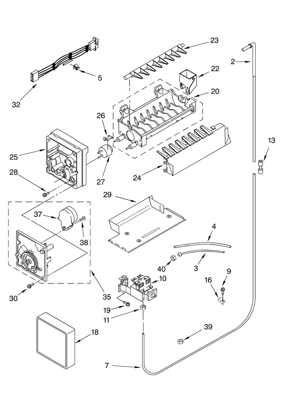 medium resolution of whirlpool refrigerator ice maker wiring diagram