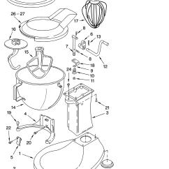 Kitchen Aid K5ss Appliance Parts Kitchenaid Model Mixer Food Genuine