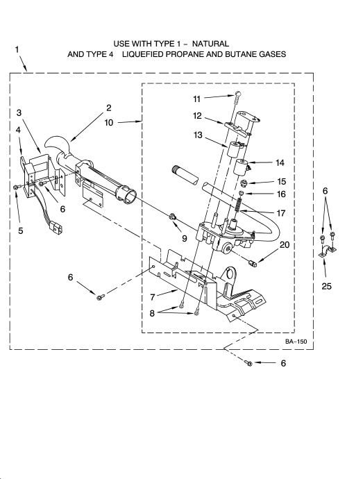 small resolution of whirlpool lgr4634pq0 8318272 burner assembly diagram