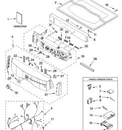kitchenaid kehs02rmt1 top and console parts diagram [ 3348 x 4623 Pixel ]
