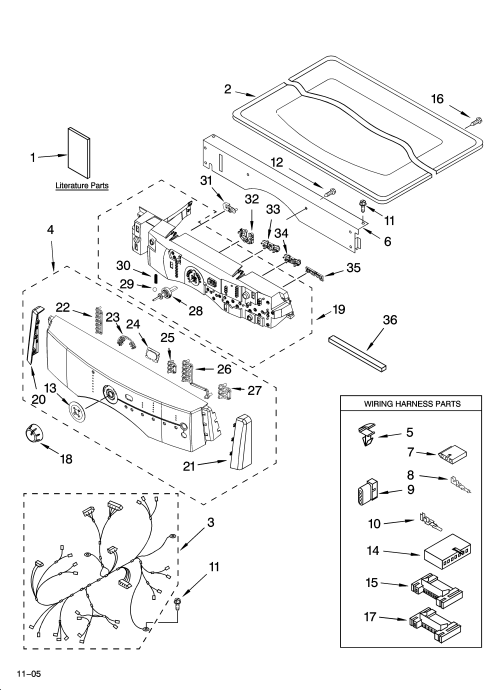 small resolution of kitchenaid kehs02rmt1 top and console parts diagram