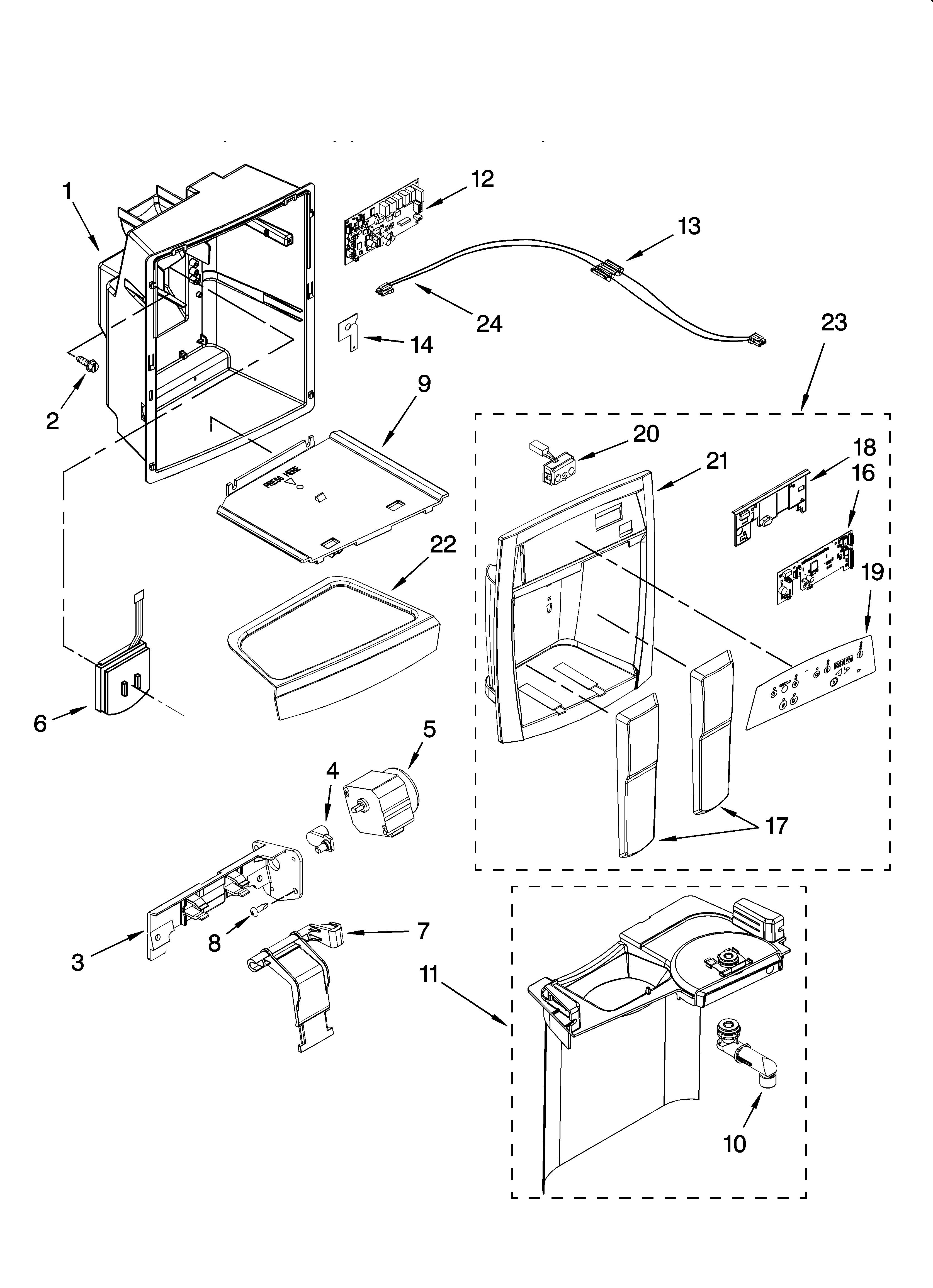 Refrigerated: Whirlpool Gold Refrigerator Parts