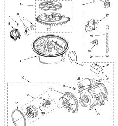 whirlpool gu2200xtsb0 pump and motor parts diagram [ 3348 x 4623 Pixel ]