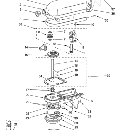 kitchenaid ksm75wh1 case gearing and planetary unit diagram [ 3348 x 4623 Pixel ]