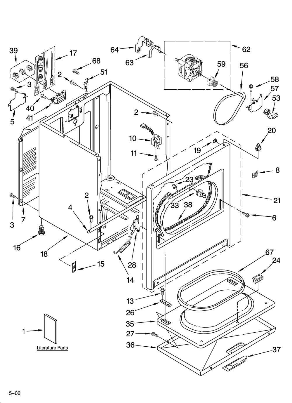 medium resolution of w0607154 00001 whirlpool residential dryer parts model wed5500sq0 sears at highcare asia whirlpool wed5500sq0 wiring diagram