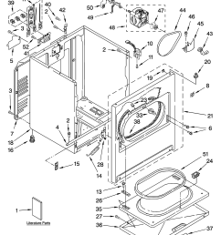 whirlpool wed5840sw0 cabinet parts diagram [ 3348 x 4623 Pixel ]