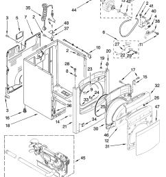 whirlpool wgd6400sb0 cabinet parts diagram [ 3348 x 4623 Pixel ]