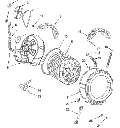 whirlpool ghw9150pw4 tub and basket parts diagram [ 3348 x 4623 Pixel ]
