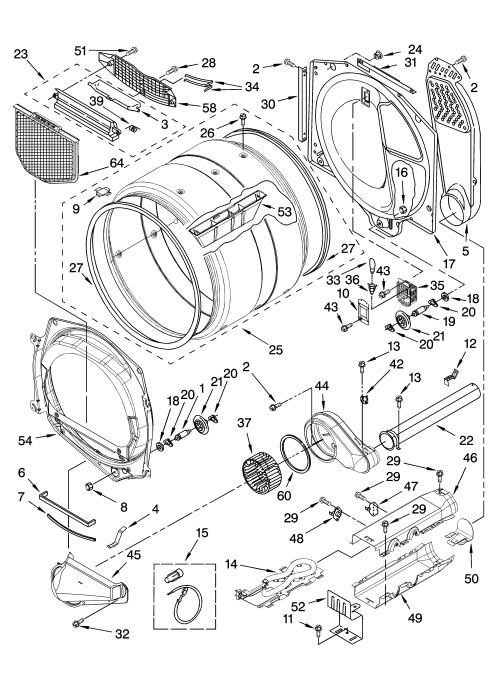 small resolution of whirlpool wed8500sr0 bulkhead parts diagram