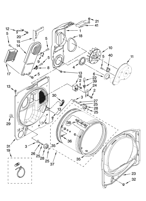 small resolution of whirlpool wed6400sw1 bulkhead parts optional parts not included diagram