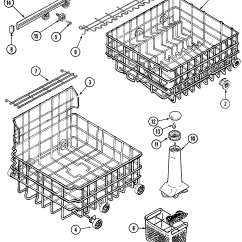 Maytag Dishwasher Wiring Diagram Xlr Mono Jack Track And Rack Assembly Parts Model