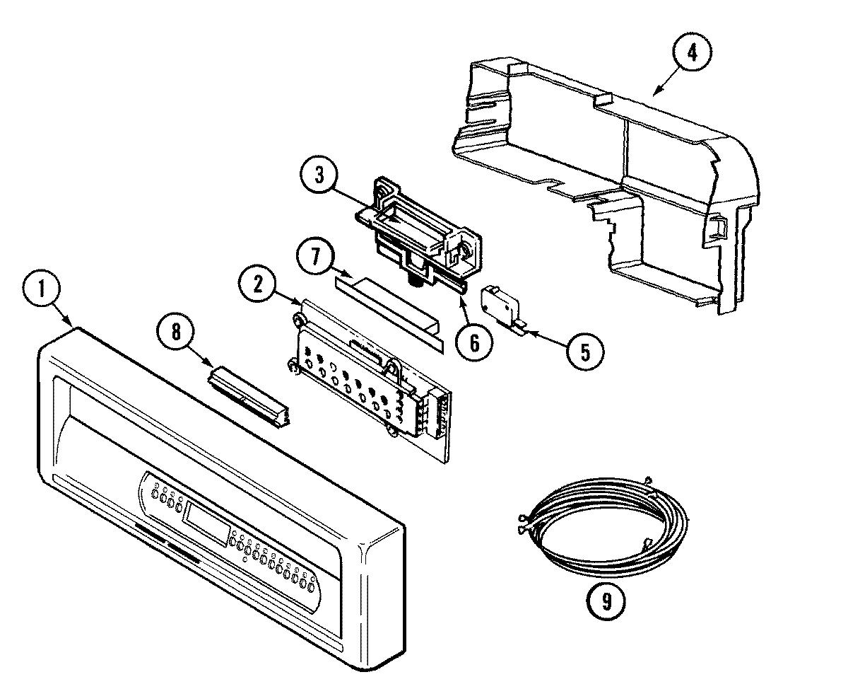 maytag dishwasher wiring diagram 7 pin trailer plug parts model mdb7100awb sears