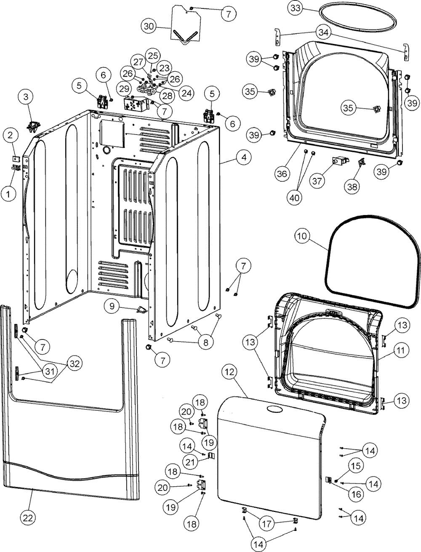 medium resolution of maytag mde6800ayq cabinet diagram