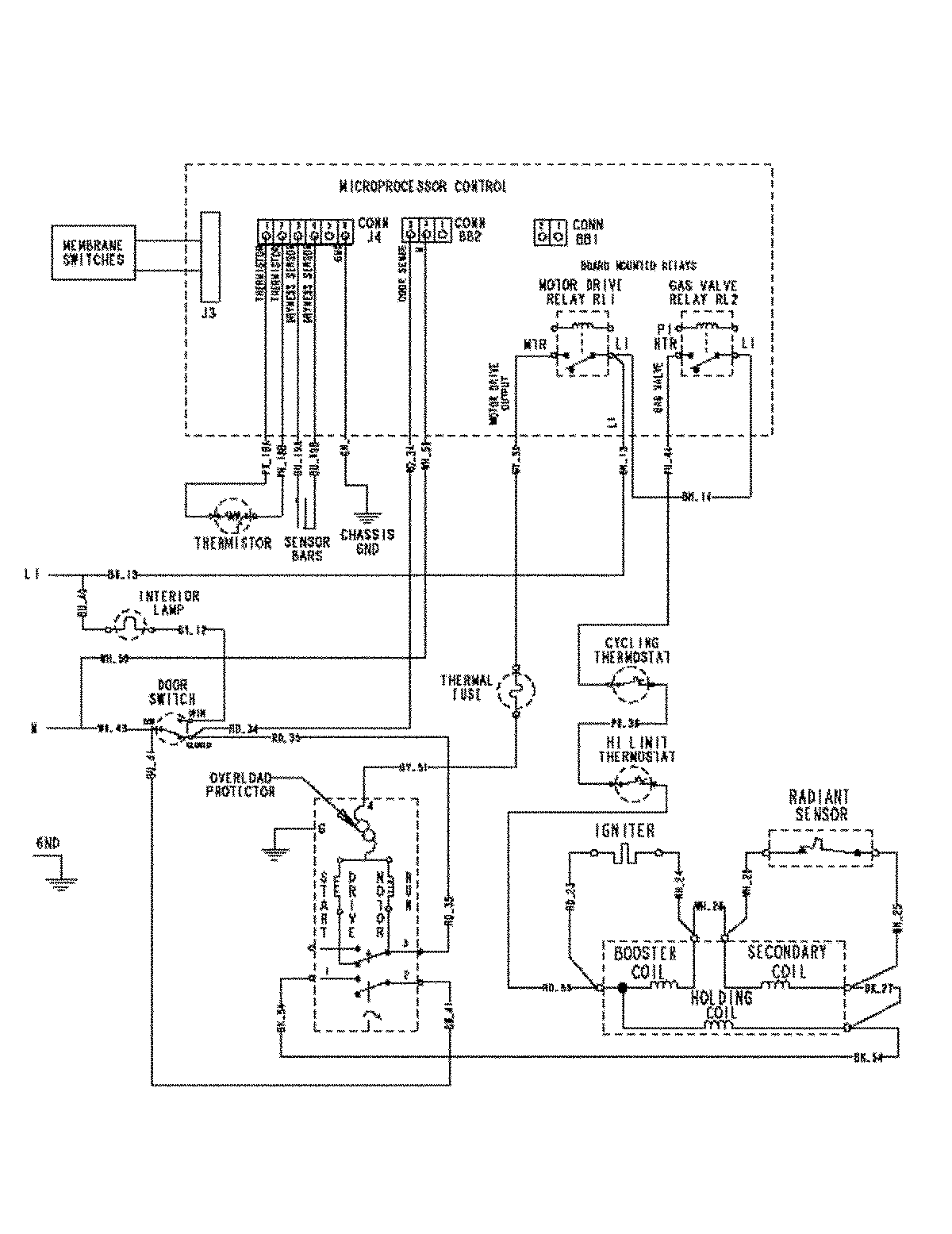 gas dryer wiring schematics