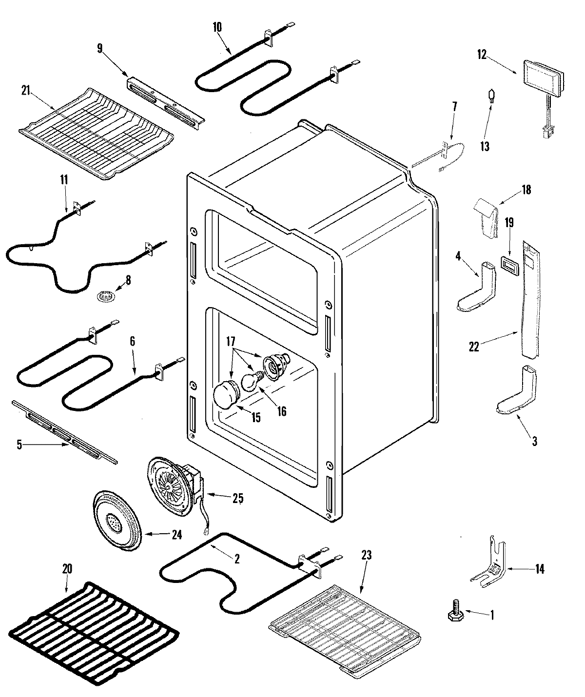 OVEN Diagram & Parts List for Model MER6875BAS Maytag