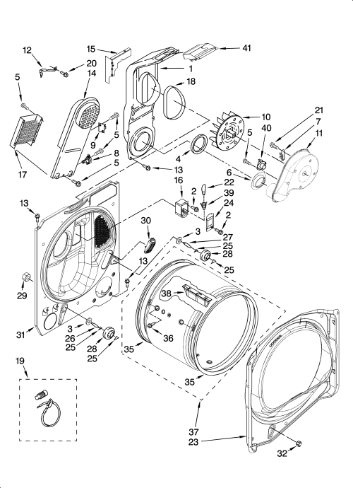 small resolution of whirlpool wed6200sw1 bulkhead parts optional parts not included diagram