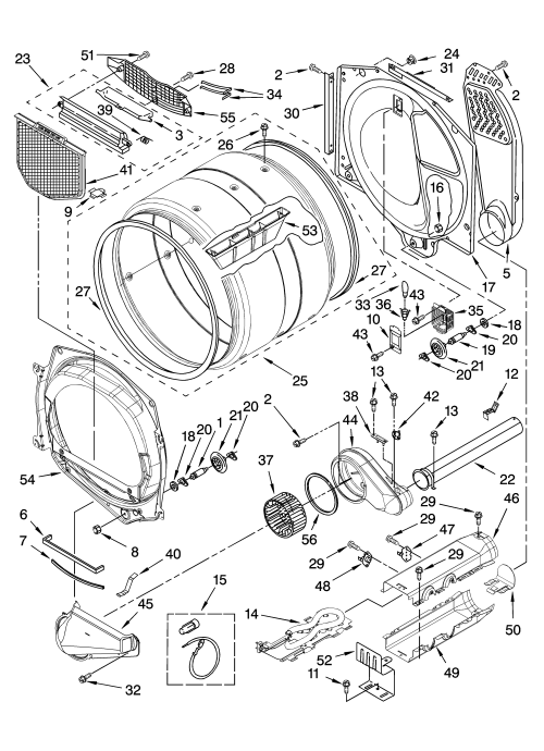 small resolution of whirlpool model wed8300sw0 residential dryer genuine partsmaytag duet dryer wiring diagram 21