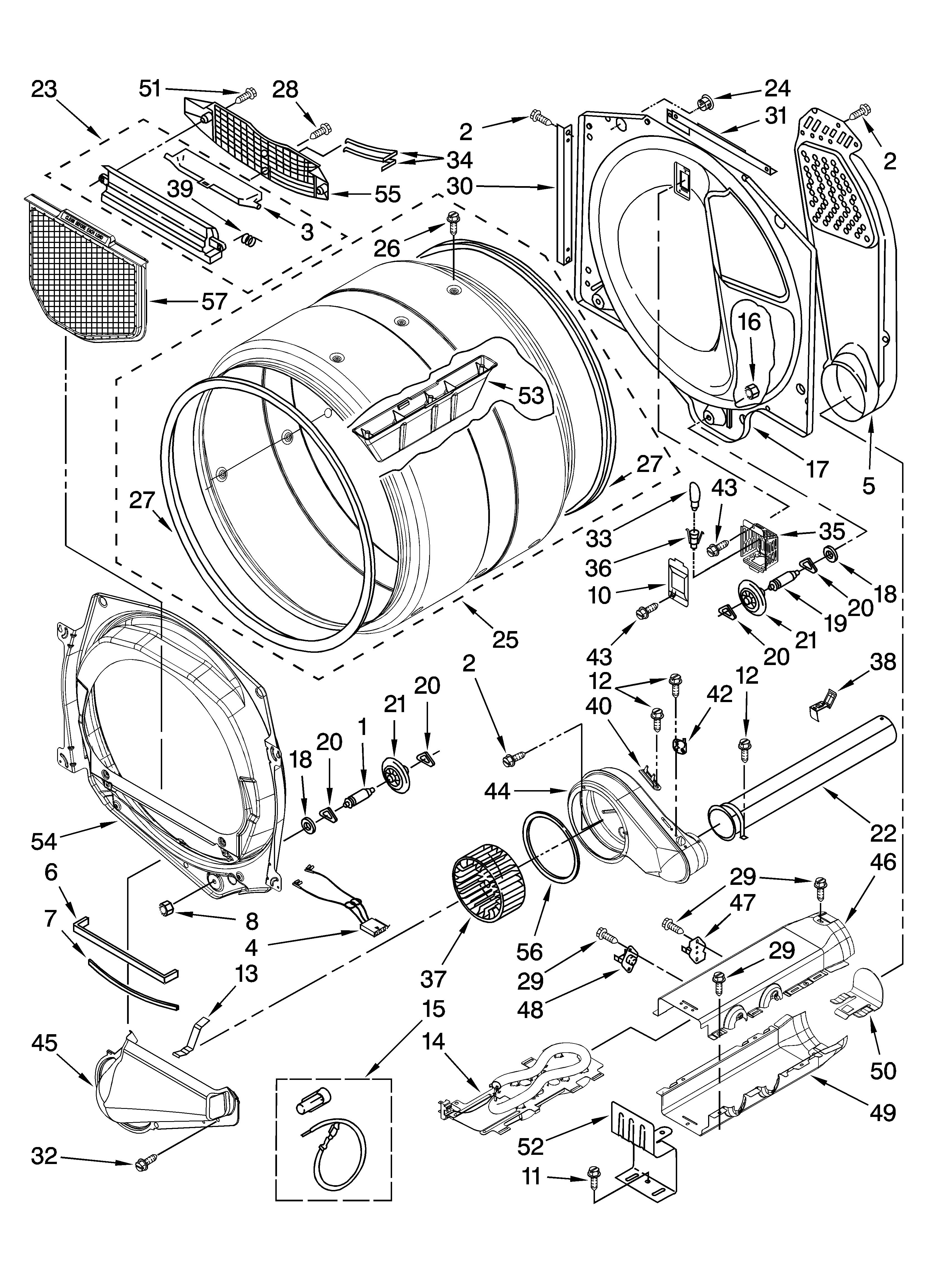 BULKHEAD PARTS Diagram & Parts List for Model medz400tq1