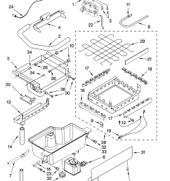 kitchenaid kuis18nntb1 evaporator ice cutter grid and water parts diagram [ 3348 x 4623 Pixel ]