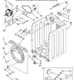 amana ned7200tw10 cabinet parts diagram [ 3348 x 4623 Pixel ]