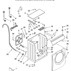 Front Load Washer Parts Diagram Of Large Intestine And Colon Amana Residential Model Nfw7200tw10 Sears