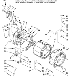 amana nfw7200tw10 tub and basket parts diagram [ 3348 x 4623 Pixel ]