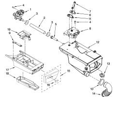 whirlpool wfw8400tw02 dispenser parts diagram [ 3348 x 4623 Pixel ]