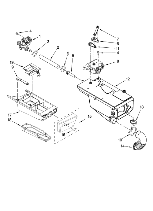 small resolution of whirlpool wfw8400tw02 dispenser parts diagram