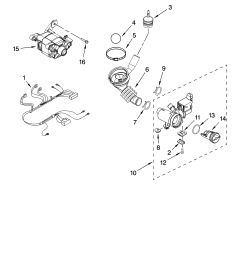 whirlpool wfw8400tw02 pump and motor parts diagram [ 3348 x 4623 Pixel ]