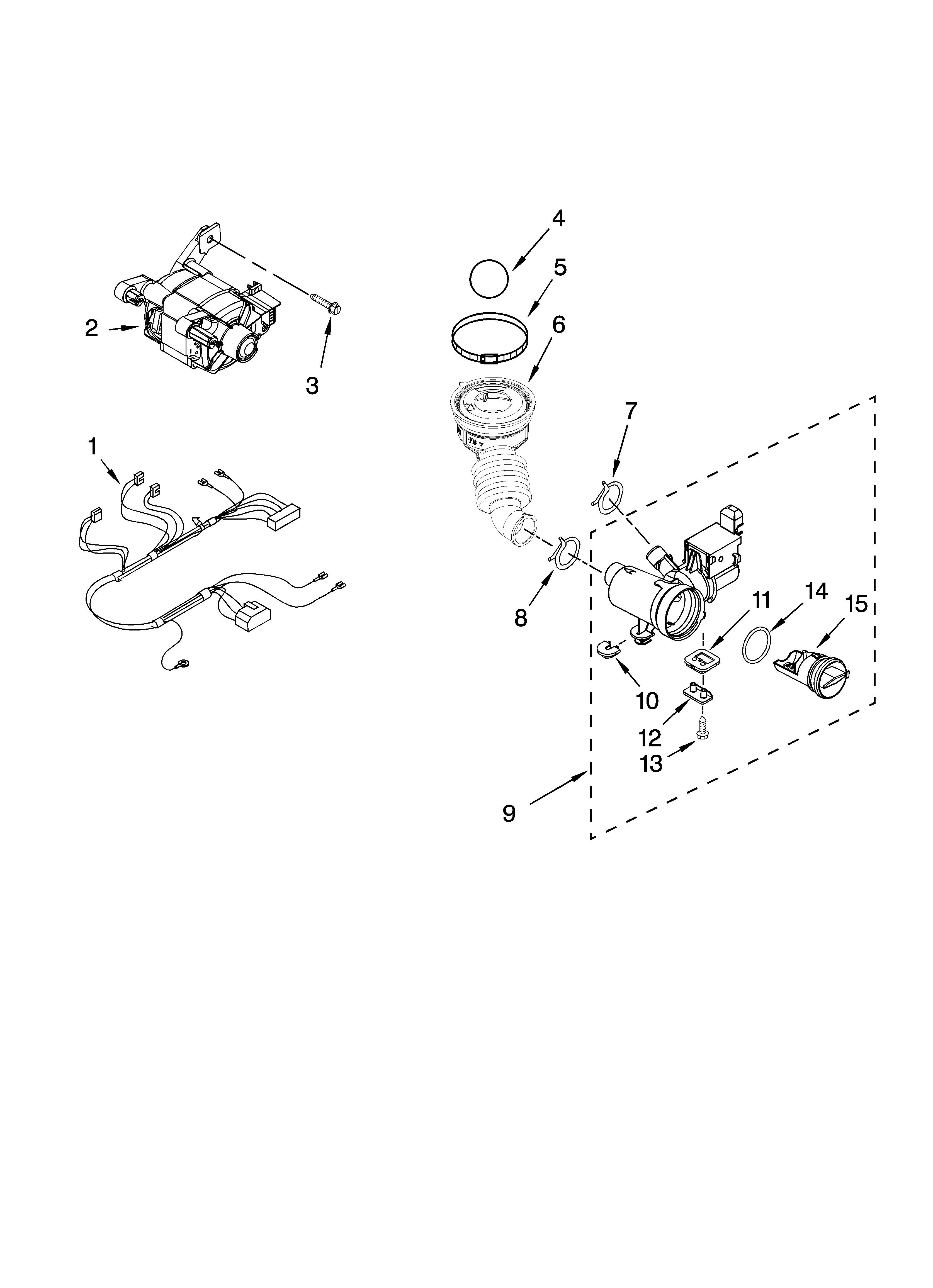 PUMP AND MOTOR PARTS, OPTIONAL PARTS (NOT INCLUDED