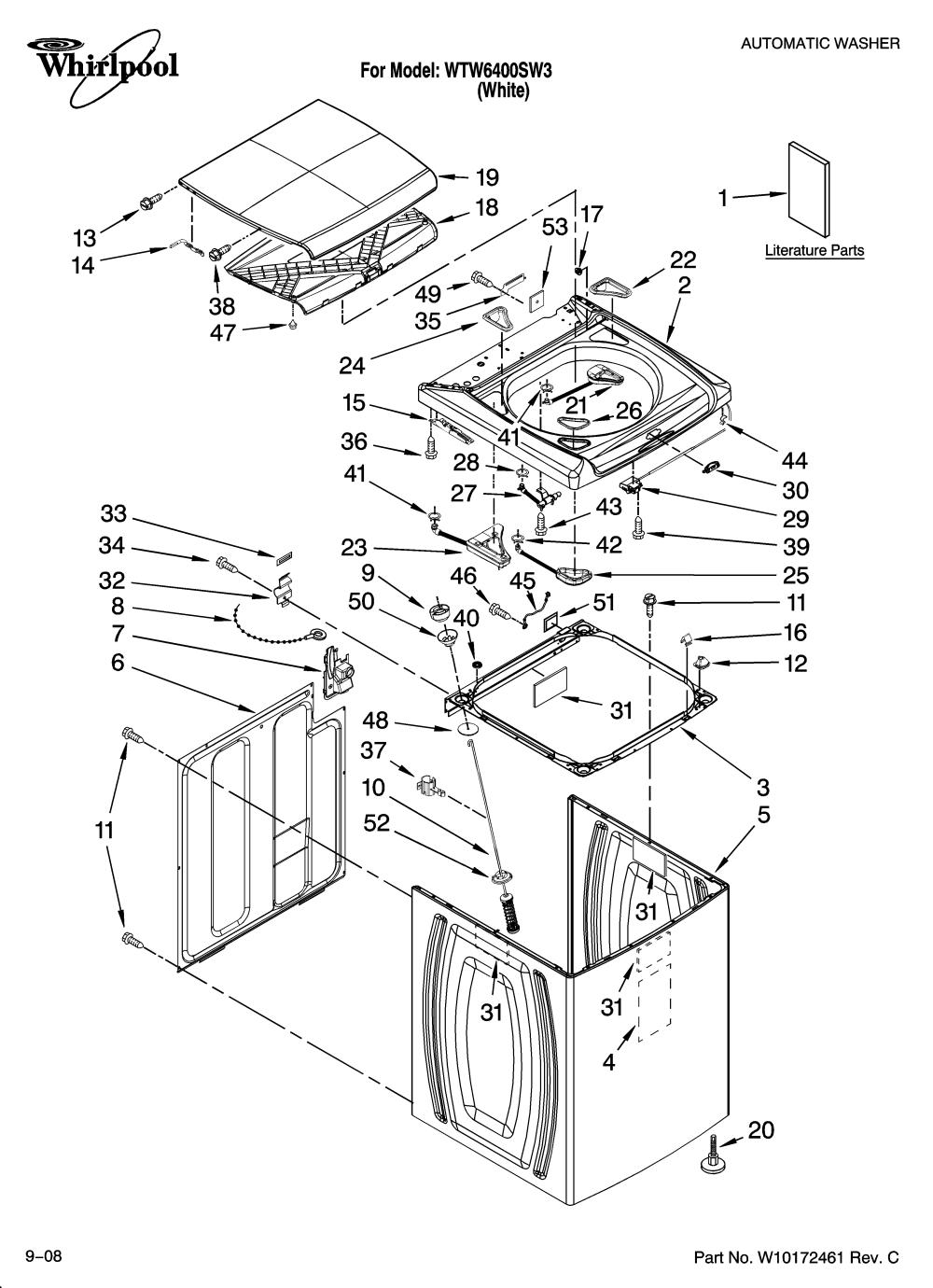 medium resolution of whirlpool cabrio washer diagram