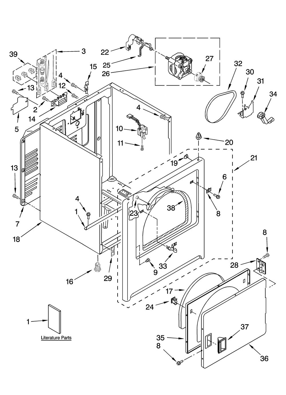 medium resolution of admiral model aed4475tq1 residential dryer genuine parts rh searspartsdirect com admiral dryer aed4475tq1 220 plug wiring diagram