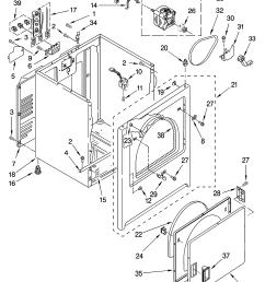 estate eed4400wq0 cabinet parts diagram [ 3348 x 4623 Pixel ]