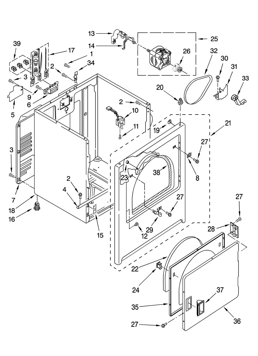 medium resolution of estate eed4400wq0 cabinet parts diagram