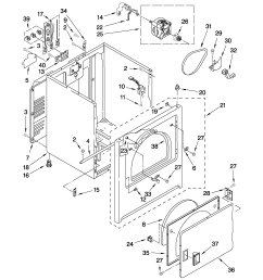whirlpool wed5100vq1 cabinet parts diagram [ 2550 x 3300 Pixel ]