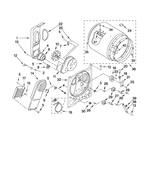 small resolution of whirlpool wed5100vq1 bulkhead parts diagram