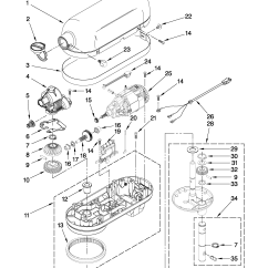 Kitchenaid Professional 600 Parts Diagram Mr2 Wiring Mixer Ksm90 Service Manual