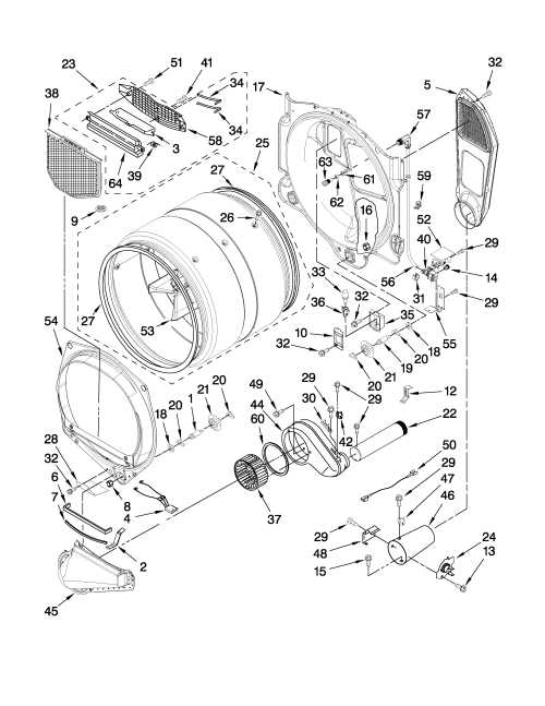 small resolution of whirlpool dryer parts diagram on whirlpool dryer model number