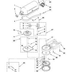 Kitchenaid Professional 600 Parts Diagram Of A Nerd Repair Manual Mixer Besto Blog