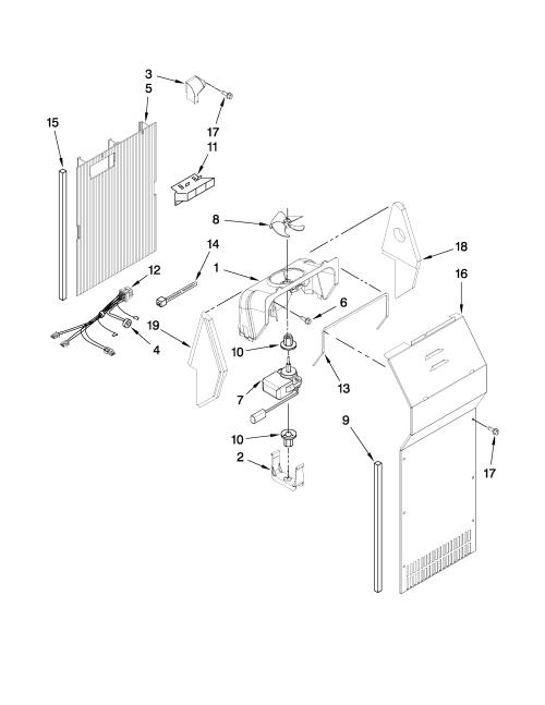 small resolution of amana asd2523wrw00 air flow parts diagram