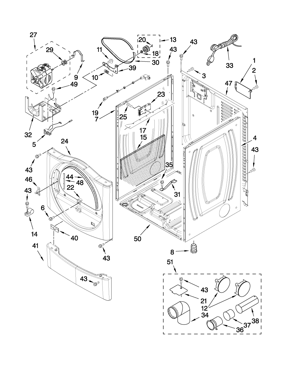 medium resolution of whirlpool gas dryer parts diagram together with whirlpool gas dryer