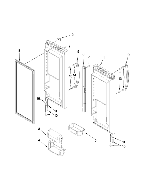 small resolution of images of maytag refrigerator door parts