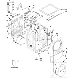 whirlpool wfw9550wl00 top and cabinet parts diagram [ 2550 x 3300 Pixel ]