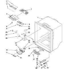 Jenn Air Refrigerator Parts Diagram Holden Vectra Stereo Wiring Freezer Door Model