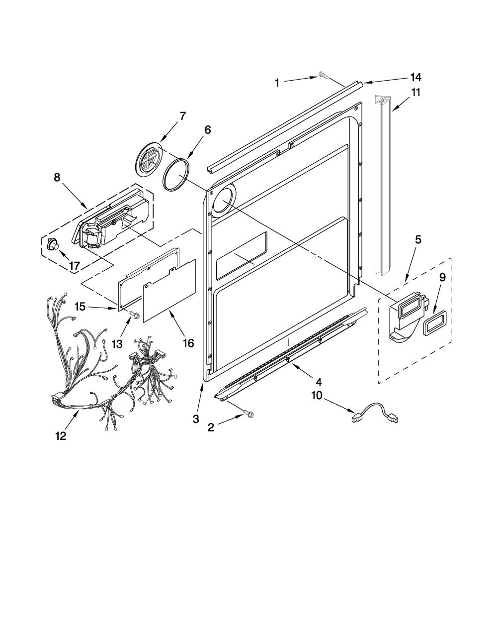 medium resolution of kitchenaid model kuds30ivwh0 dishwasher genuine parts rh searspartsdirect com kitchenaid dishwasher wiring harness diagram kitchenaid dishwasher