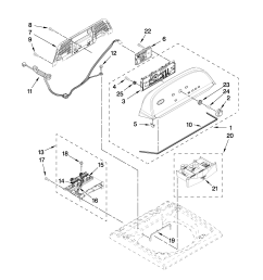 whirlpool wtw5550xw0 console and dispenser parts diagram [ 2550 x 3300 Pixel ]