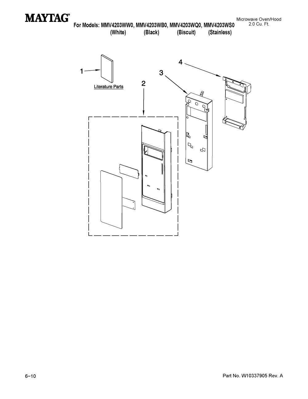 medium resolution of looking for maytag model mmv4203ws0 microwave hood combo repairmaytag mmv4203ws0 control panel parts diagram