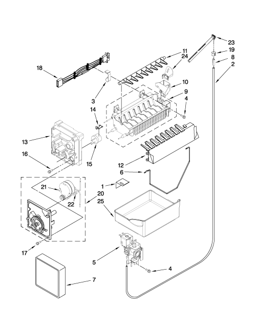 small resolution of whirlpool gb2fhdxwq02 icemaker parts diagram