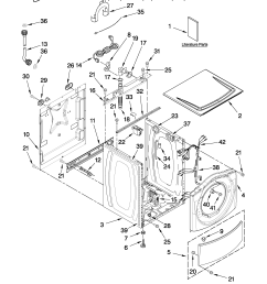 whirlpool wfw9250ww01 top and cabinet parts diagram [ 2550 x 3300 Pixel ]