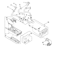 whirlpool wfw9250ww01 dispenser parts diagram [ 2550 x 3300 Pixel ]